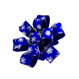 Winter Blue and White Party Bow