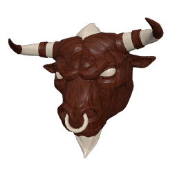 Wooden Minotaur Mask