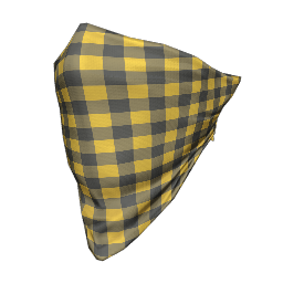 Yellow Plaid Face Bandana