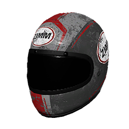Zimms Red Racing Helmet