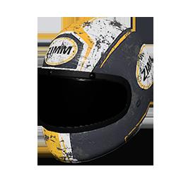 Zimms Yellow Racing Helmet