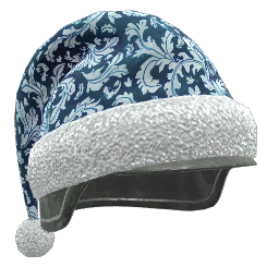 Blue and White Holiday Helmet