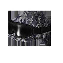 Skin: Blue Camo Tactical Helmet w/Goggles
