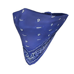 Skin: Blue Face Bandana