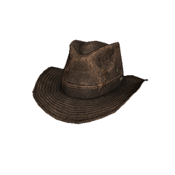 Skin: Brown Leather Outback Hat
