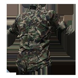 Skin: Camo Green Flannel Shirt