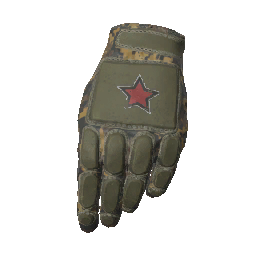 Digital Camo Padded Gloves