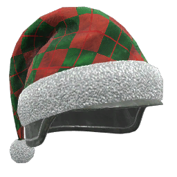 Green and Red Holiday Helmet