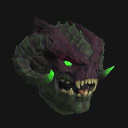 Green Infernal Demon Mask