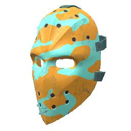 Skin: Orange and Aqua Hockey Mask