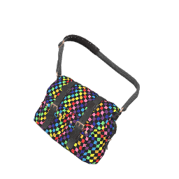 Rainbow Check Western Satchel