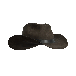 Rustic Leather Cowboy Hat