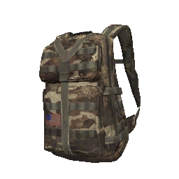 Tan Camo Military Backpack