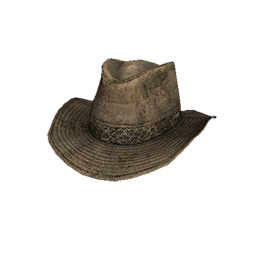 Skin: Tan Leather Outback Hat