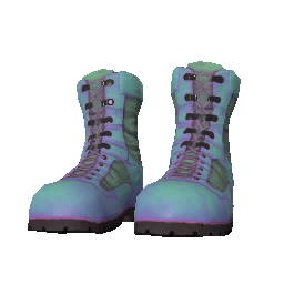 Skin: Teal Combat Boots