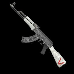 White Just Survive AK-47