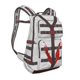 White Just Survive Military Backpack