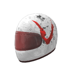 White Just Survive Motorcycle Helmet