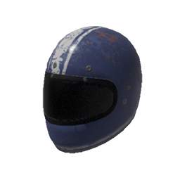 Skin: White Striped Motorcycle Helmet
