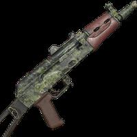 AK74U Green Camo Skin