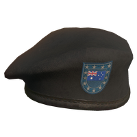 Black AU Military Beret