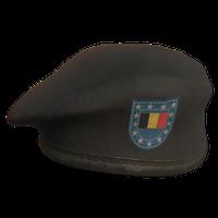 Black BE Military Beret