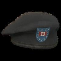 Black CA Military Beret