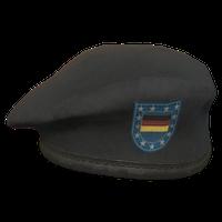 Black DE Military Beret
