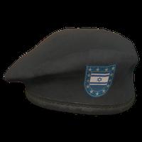 Black IL Military Beret