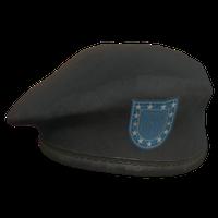 Black Military Beret