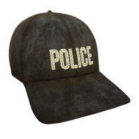 Black Police Flex Cap
