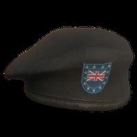 Black UK Military Beret