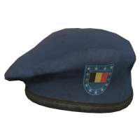 Blue BE Military Beret