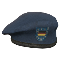 Blue DE Military Beret