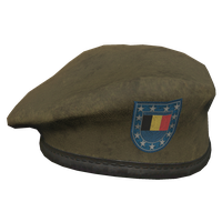 Brown BE Military Beret