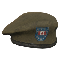 Brown CA Military Beret