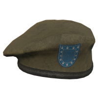 Brown Military Beret