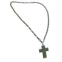 Chrome Cross Necklace