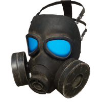 Gas Mask Blue Skin