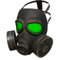 Gas Mask Green Skin