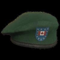 Green CA Military Beret