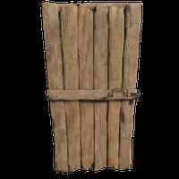 Lockable Wooden Door 02