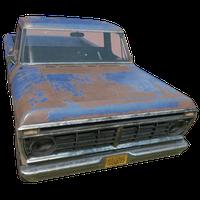 Pickup Truck Blue Skin