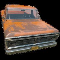 Pickup Truck Orange Skin