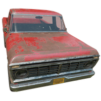 Pickup Truck Red Skin