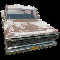 Pickup Truck White Skin