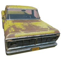 Pickup Truck Yellow Skin