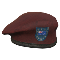Red AU Military Beret