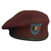 Red BE Military Beret