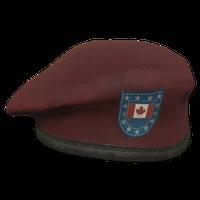 Red CA Military Beret